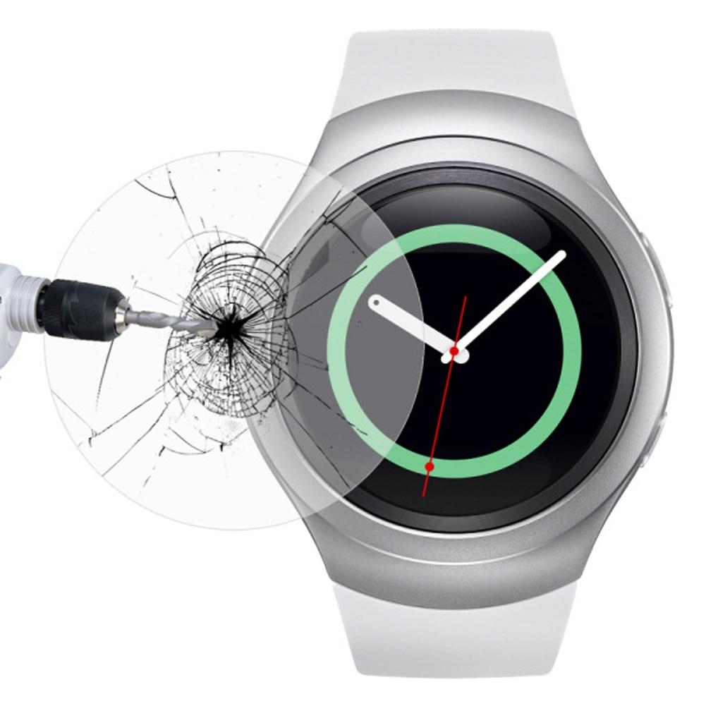 Alloet 2 unids/lote de película de vidrio templado para Samsung Galaxy Gear Classic S2 S3 Protector de pantalla 9H 2.5D reloj inteligente de vidrio Protector