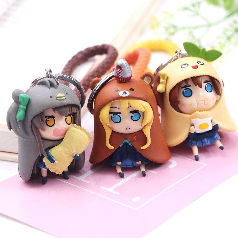 Брелок для ключей Kawaii Love Live, мини-брелок Kotori Kousaka Honoka Maki Nishikino Cos Himouto! Umaru-chan мультипликационный персонаж дома Умару ПВХ кулон фигурка игрушка