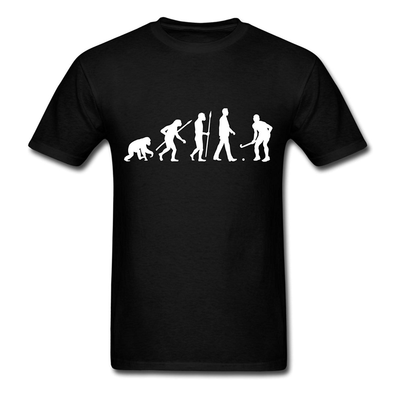 Evolução Campo Hockeyer s T-Shirt Venda Barato 100% T Camisas de Algodão T-Shirt Impressão Tee Moderno