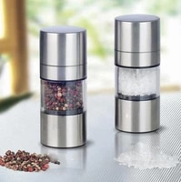 by dhl or ems 100 pcs novetly home kitchen tool high quality manual stainless steel salt pepper mill spice sauce grinder silver