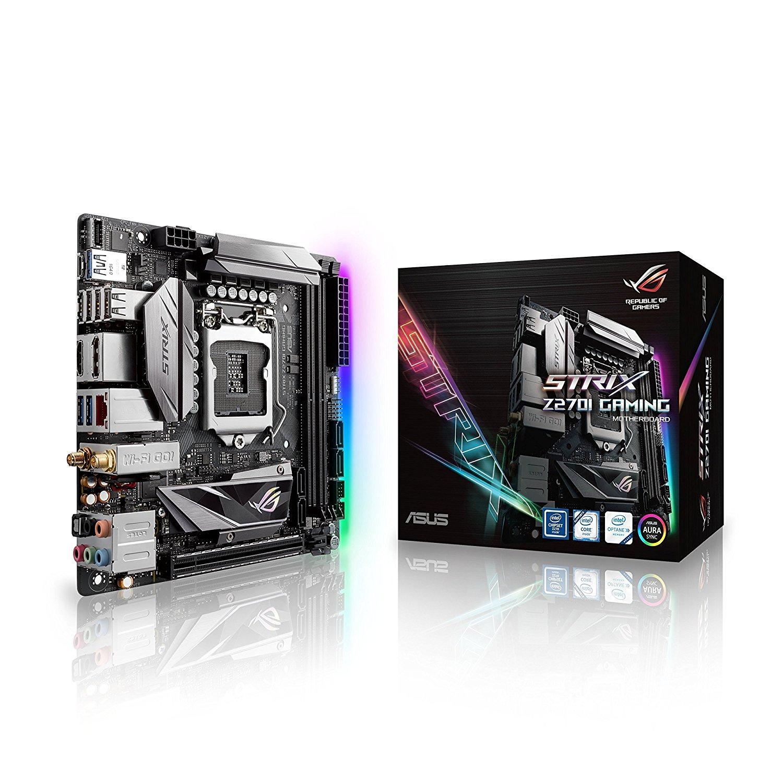 Asus ROG STRIX Z270I игровая мини-плата Intel Z270 LGA 1151 MINI-ITX DDR4 32 Гб SATA3.0 USB3.0 настольная материнская плата