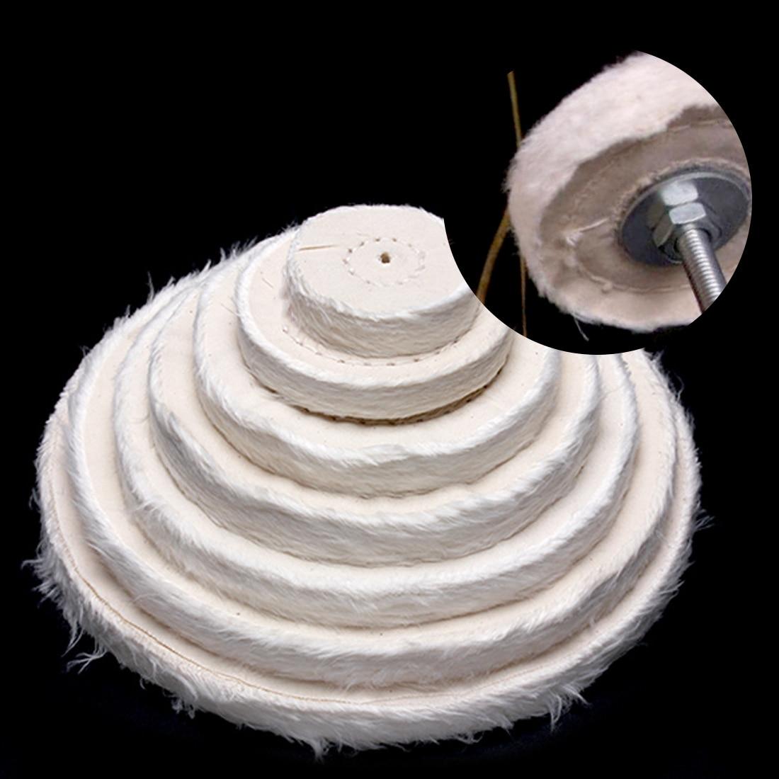 2-12 inch wielen polijsten polijstwiel katoen lint doek polijsten - Schurende gereedschappen - Foto 5