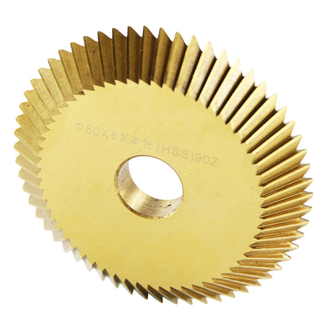 Key Machine Disk Cutter HSS Cutting Saw Blade 90T Single-sided Tooth for Cutting Machine Titanium Plating 60*6*16mm