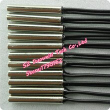 Capteur de température de thermistance NTC 10K 1% 3950 ligne longue 800mm température de 200 degrés 4*25mm