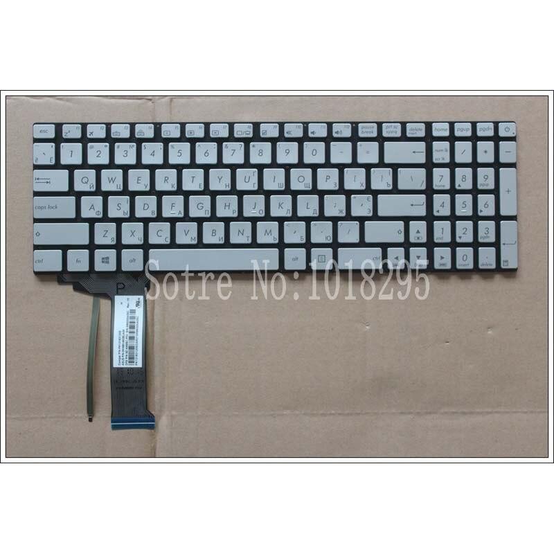 Nuevo para ASUS GL551 GL551J GL551JK GL551JM GL551JW GL551JX backlit ruso RU teclado portátil de plata