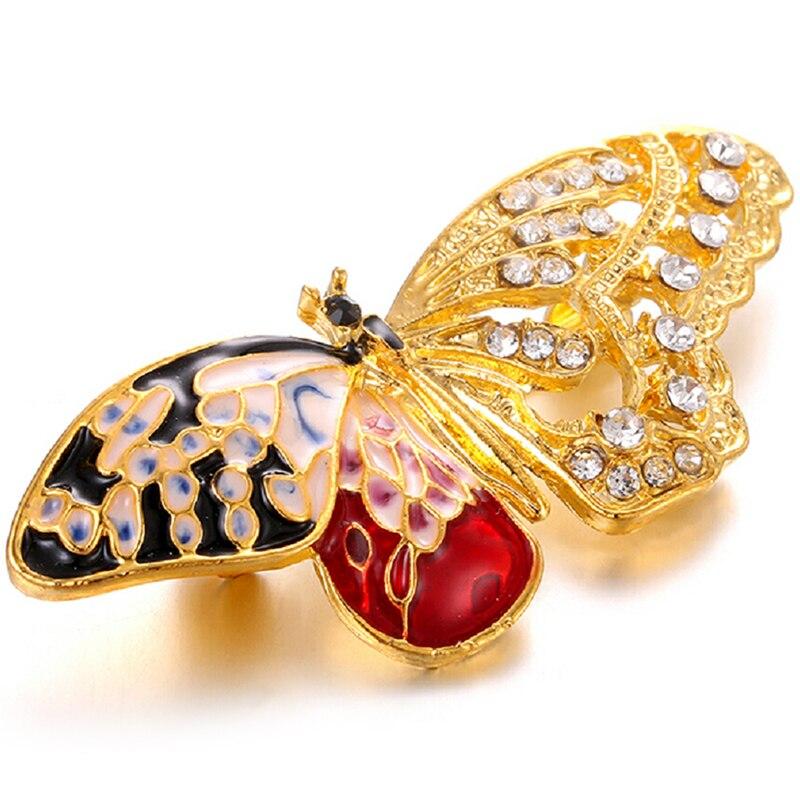 Модные хрустальные стразы ручная работа цветная бабочка стрекоза брошь булавка