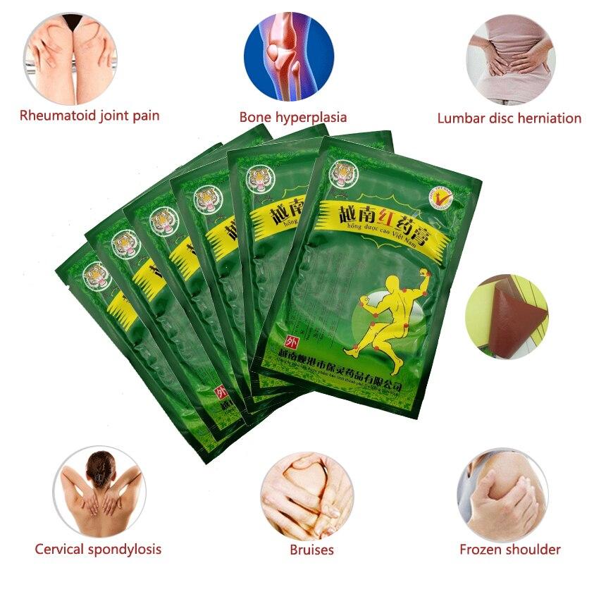 48Pcs/6Bags Vietnam Red Tiger Balm Treatment Plaster Shoulder Muscle Joint Pain Stiff Patch Relief Health Care C077