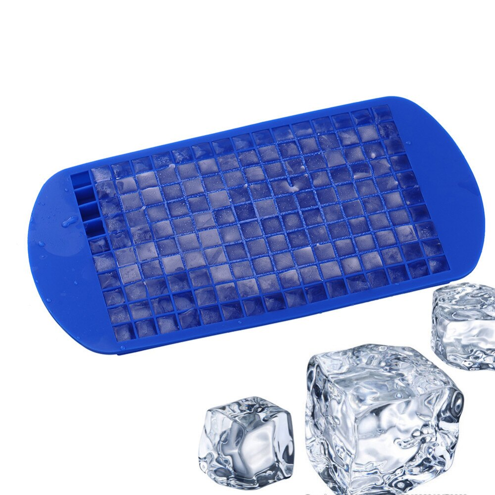 Verão 160 Cavity Silicone Wiskey Gelo Fabricante de Bandeja de Cubos de Gelo Quadrado DIY Food Grade Molde De Gelo Pequenos Recipientes De Armazenamento De Cozinha