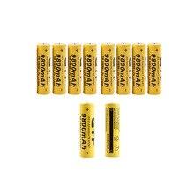 10 Pcs/lot 18650 batterie 3.7 V 9800 mAh Lithium Li ion batterie rechargeable pour lampe de poche LED torche liion batterie