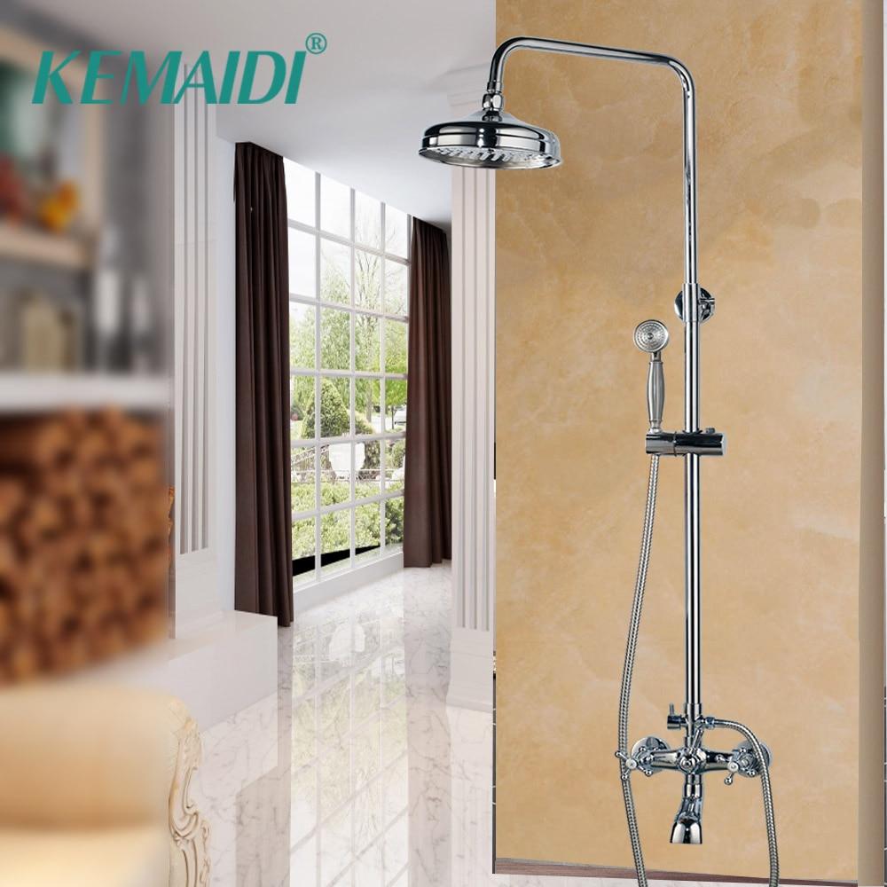 KEMAIDI-مجموعة حنفيات دش الحمام ، لحوض الاستحمام ، جدران الحمام ، دش الجدار ، صنبور حوض الاستحمام ، خلاط كروم