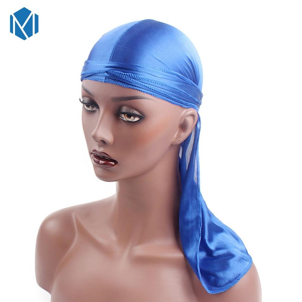 Шелковый Мужской Атласный парик Durags бандана пиратская шляпа бандо Женская