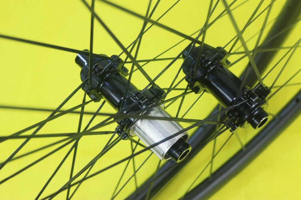 Juego de ruedas de fibra de carbono clincher 700c 38mm cyclocross 38C 25mm de ancho ruedas de carreras Powerway CT31 cerradura central 1432 radios