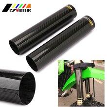 Housse de protection pour moto   En Fiber de carbone 240*52mm, protection contre les chocs, pour KTM YZF EXC CRF KLX YZ YZF WRF Pit Bike