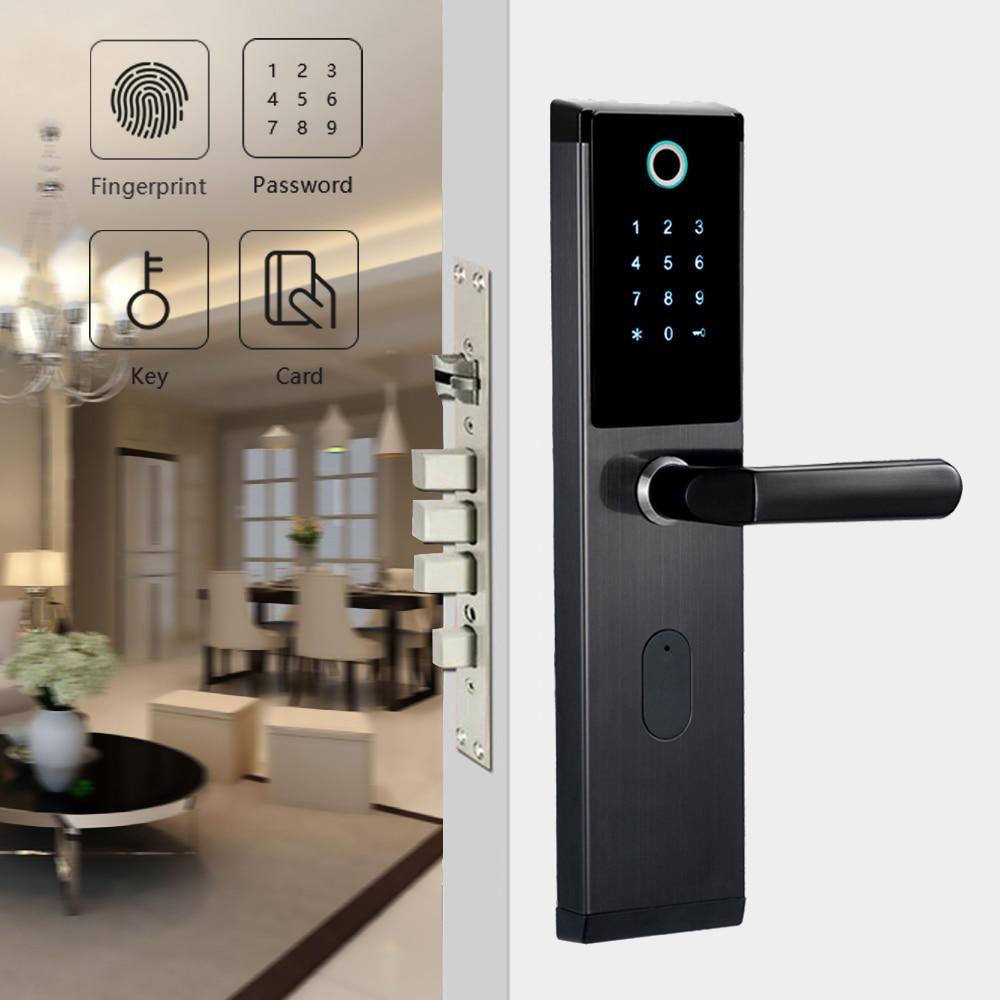 Promo YOHEEN Smart Biometric Fingerprint Lock with Digital Password RFID Card  Key Electronic Smart Fingerprint Door Lock