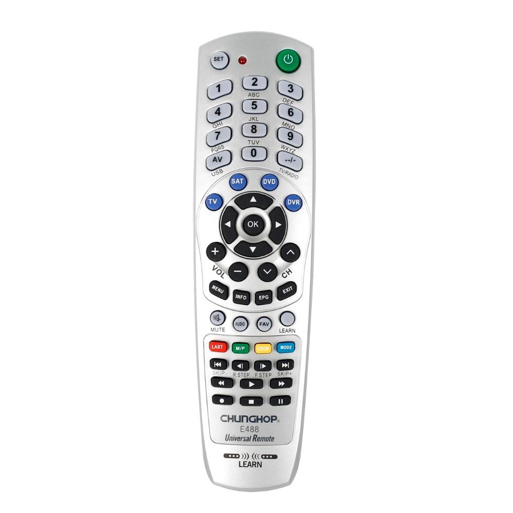 Controle remoto universal para chungop tv sat dvd dvr palyer operando 4 dispositivos e488 controlador