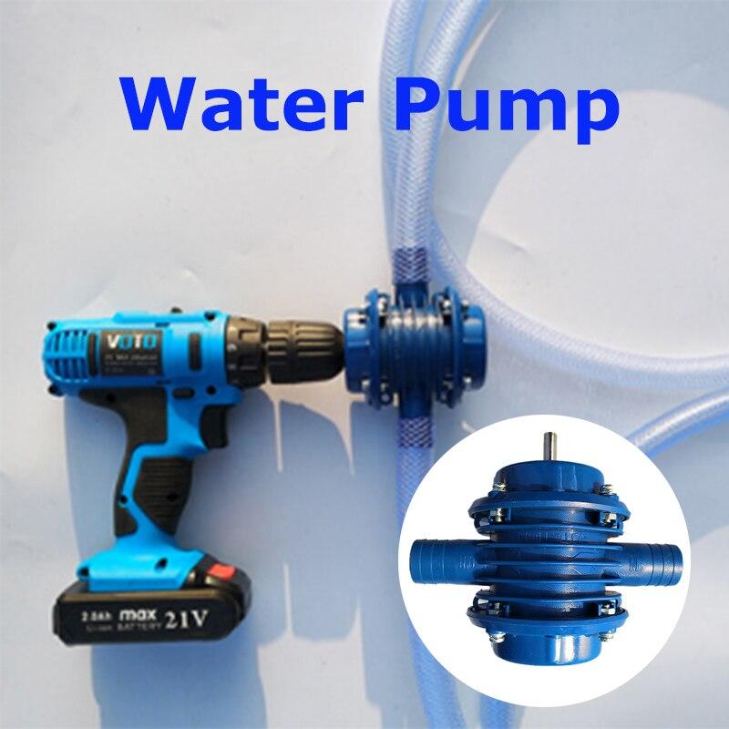Bomba de agua de perforación eléctrica manual autocebante para tanque de peces acuario hogar jardín Micro sumergibles Motor bombas de agua centrífugas