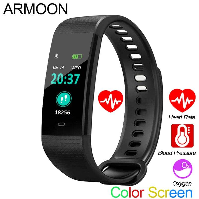 Smart Bracelet Y5 Heart Rate Fitness Tracker Men Women Sport Watch Blood Pressure Watch Color Screen Activity Tracker Wrist Band