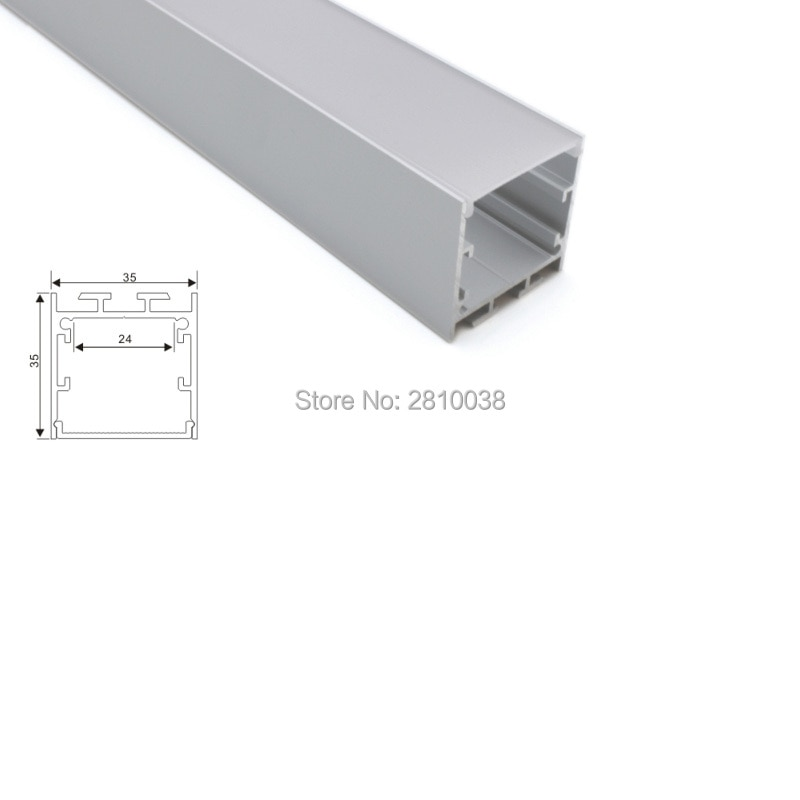 100 X 2M Sets/Lot Al6063 T6 aluminum U channel and square type led housing aluminum for wall recessed ceiling lamps