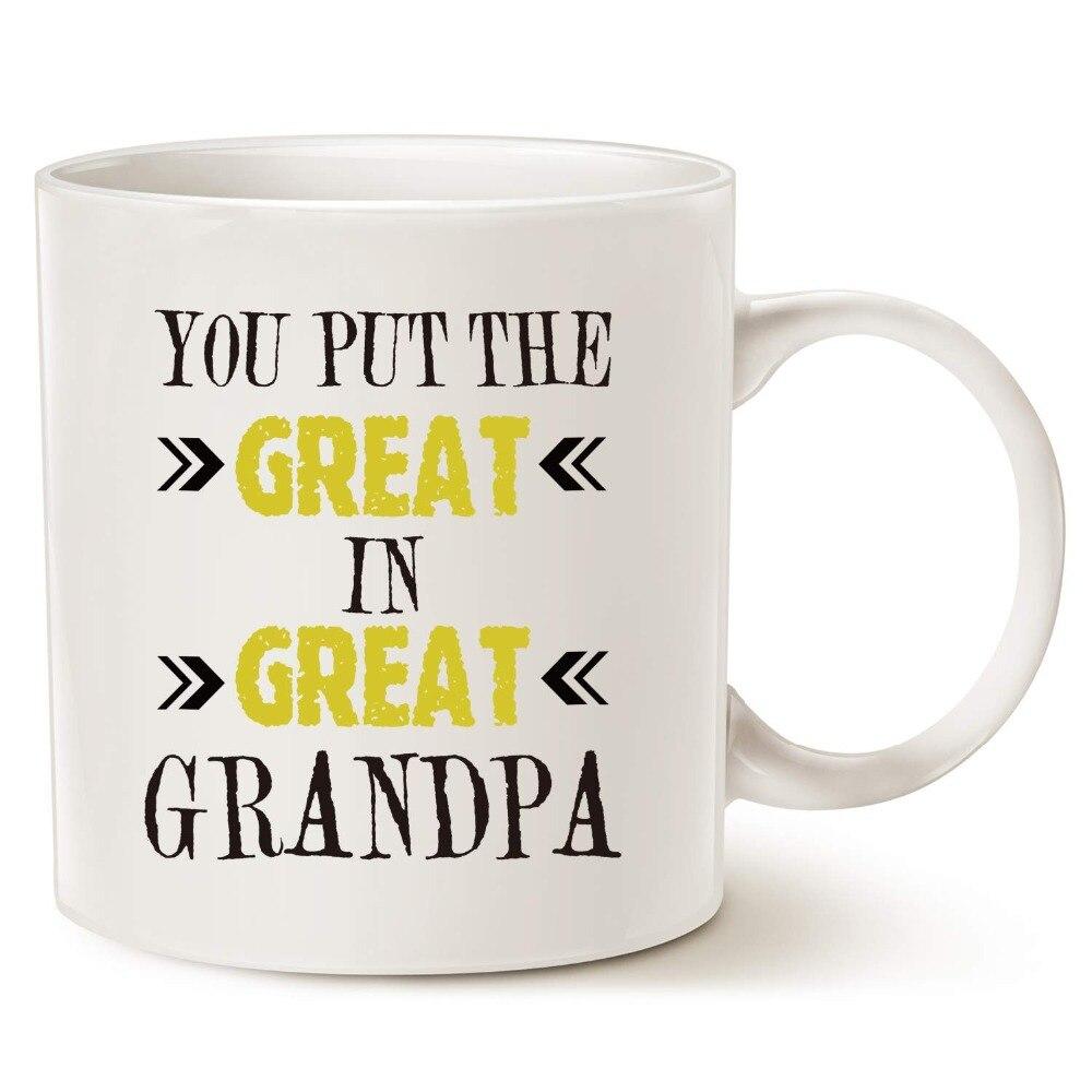 Regalos de navidad taza de café abuelo-usted pone el Grande en el abuelo-mejores regalos de cumpleaños para su abuelo, abuelo o
