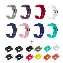 2in1 Silicone Sport Bracelet pour Xiaomi Huami Amazfit Bip jeunesse montre intelligente 20mm remplacement Bracelet de montre Bracelet + housse complète