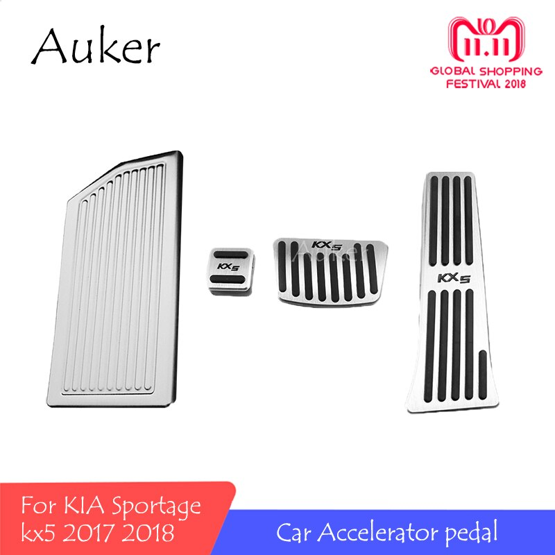 Para KIA Sportage 2018 2017 kx5 QL en acelerador Pedal palanca Placa de embrague reposapiés acelerador freno pie Pedal coche estilo reajuste