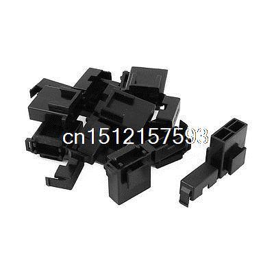 Auto Car Truck Blade Fuse Terminal Block Box Holder Black BX2017 10 Pcs