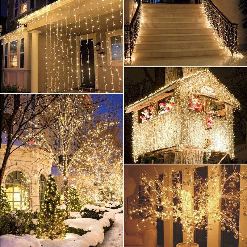 Crăciun cu LED-uri în aer liber 100m 20m 10m 5m lumini de zână - Luminări festive - Fotografie 4