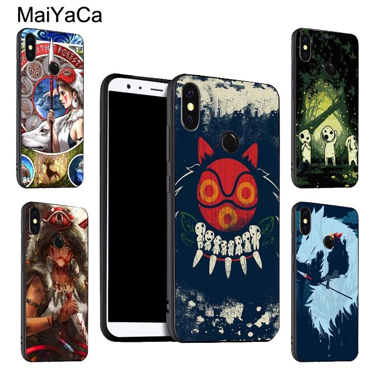 MaiYaCa, funda de princesa Mononoke para Xiaomi Redmi Note 9 8 Pro K30 7 9S 8T 7A 8A Mi 9T 10 Pro 9 Lite A3 Max3 Mix3