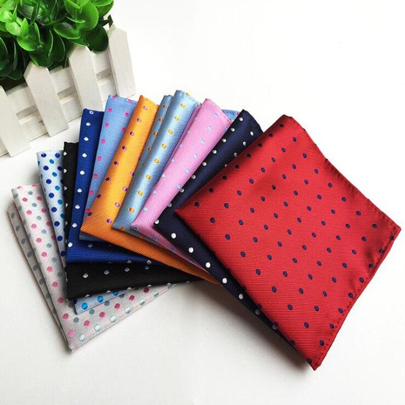 Роскошный модный Карманный платок красный серый серебристый однотонный платок в горошек для мужчин деловой Свадебный Шелковый носовой платок 25*25 см костюм