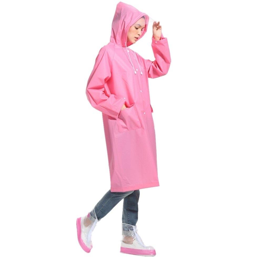 Veste de pluie mate avec capuche   Imperméable givré pour hommes et femmes, Poncho de pluie avec capuche, manteaux de Trench en EVA, vêtements de pluie avec poche