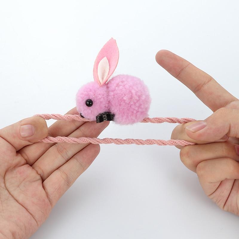 Ljubek prstan iz živalske dlake s kroglico in zajcem, ženski - Oblačilni dodatki - Fotografija 4