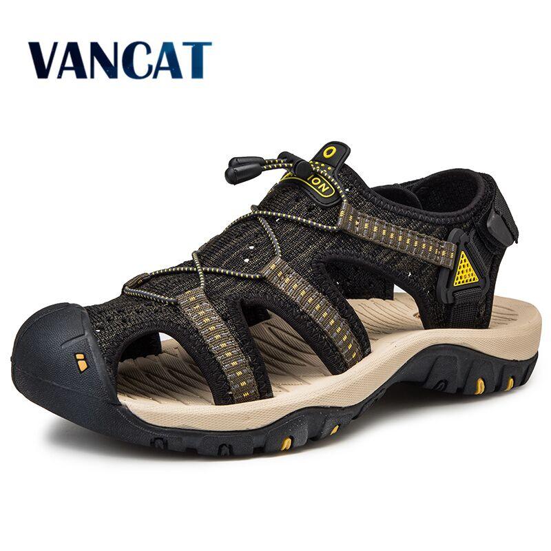 New Mesh Men Roman Sandals Soft Fisherman Summer Casual Shoes Water Men Beach Sandalias Water Fashion Outdoo Sneakers Size 39~48