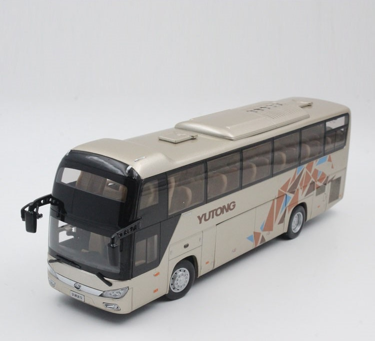 Collectible Alloy Model Gift 1:42 Scale Yutong ZK6118HQY8Y Double-decker City Transit Bus Vehicle DieCast Toy Model Decoration alloy model 1 24 scale kinglong higer bev pure electric transit bus vehicle diecast toy model for collection decoration