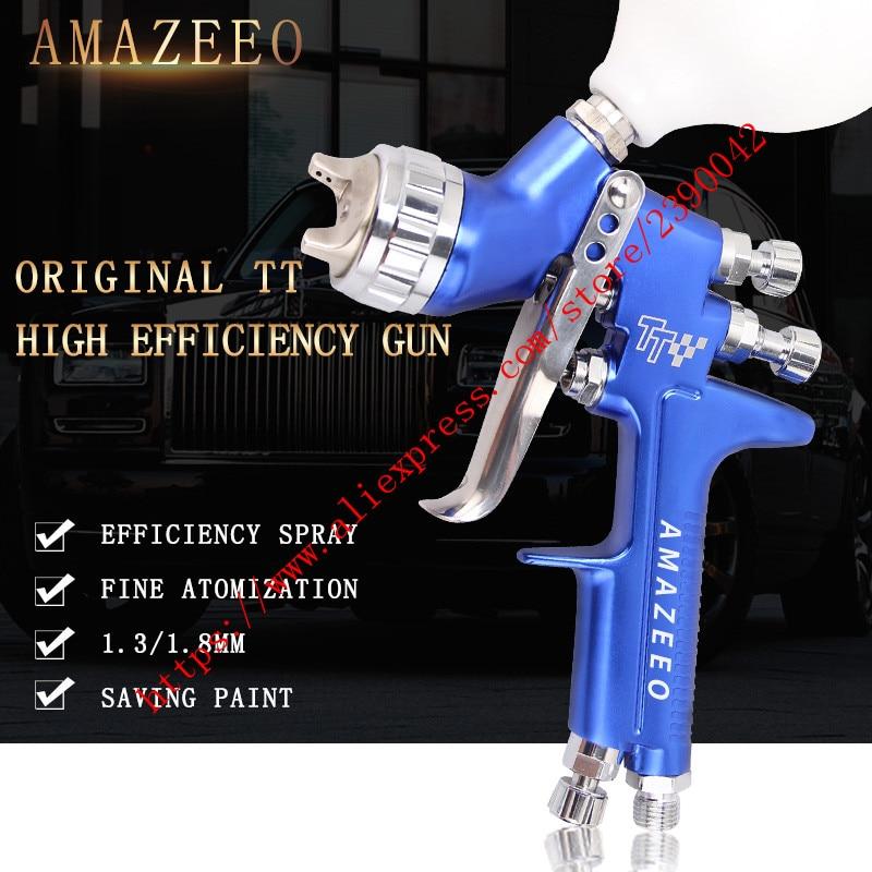 Profesional HVLP LVMP pistola de coche profesional GFG TT pistola de aerosol coche profesional, pintar muebles de coche pistola de recubrimiento de 1,3mm y 1,8mm