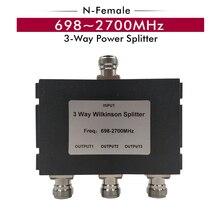 698 ~ 2700 MHz 3 Yollu N-dişi Splitter Güç Bölücü CDMA 850/GSM 900/ DCS 1800/ADET 1900/WCDMA 2100/LTE 2600 MHz Sinyal Güçlendirici