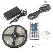 LED Stip Kit DC12V RGB LED bande 5 M étanche Flexible corde lumière 5050 60 LED/m, 44Key télécommande et 5A 12 V alimentation
