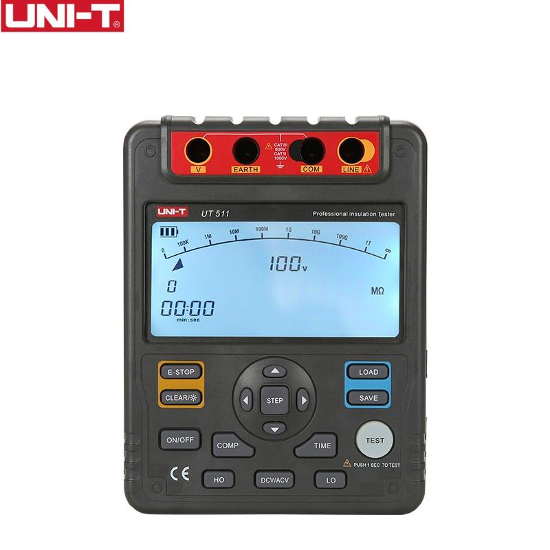 UNI-T UT511 1000V 10Gohm الرقمية عزل المقاومة اختبار UT511 الفولتميتر السيارات المدى Megger