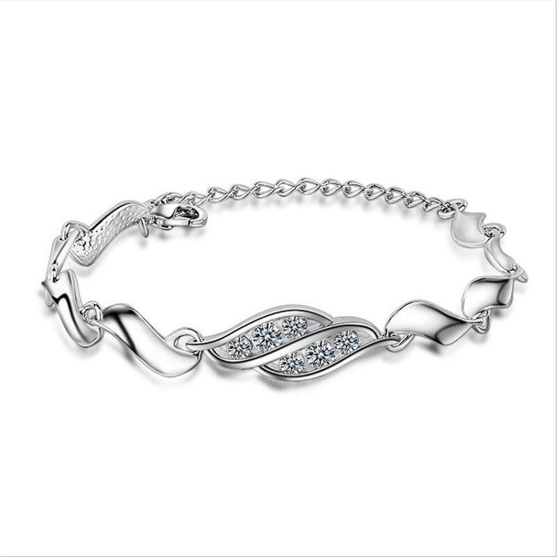 Everoyal senhora do vintage 925 prata esterlina pulseira feminina acessórios moda cristal pulseira feminino princesa jóias de prata quente