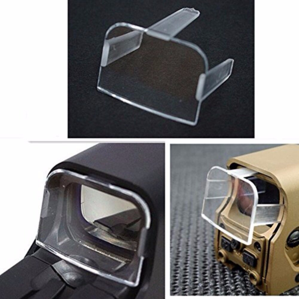"Caza táctica Airsoft Scope rojo verde Dot Sight Lens protector Holosight Cover para 551 / 552 / 553 / 557 tipo EX013 ""nuevo"""