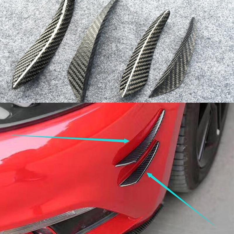 Углеродное волокно передний бампер для губ сплиттер плавники спойлер для тела Canard Valence подбородок для AUDI A1 A3 A4 A5 A6 A7 TT S3 S5 S6 S4 S7 RS3 RS
