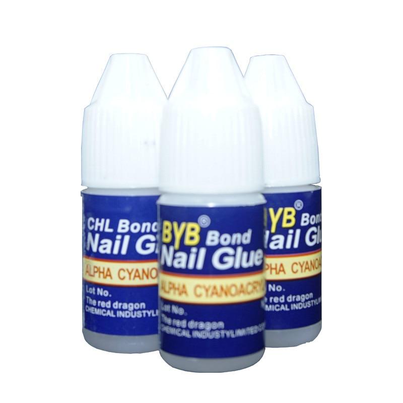 3pcs New arrive available 3g Nail Gel BYB Acrylic Art Nail Glue for nail art tool decoration Fashion free shipping