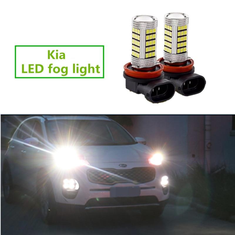 2x H8 Led luces antiniebla DE COCHE bombilla DRL para Kia Rio K2 Ceed Sportage Sorento Cerato alma Picanto Optima K3 espectros K4