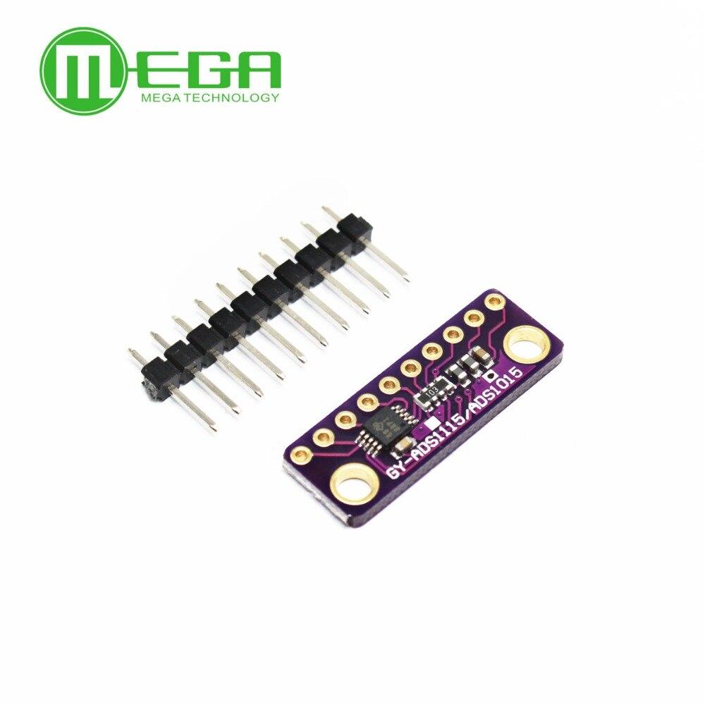 10 unids/lote I2C ADS1115 16 Bit ADC Módulo de 4 canales con amplificador de ganancia programable 2,0 V a 5,5 V para Arduino RPi