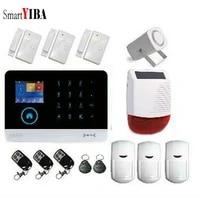 SmartYIBA systeme dalarme de securite   Sans fil  Wifi  capteur dalarme de cambrioleur  mouvement avec sirene solaire  alarme GSM  application de securite domestique