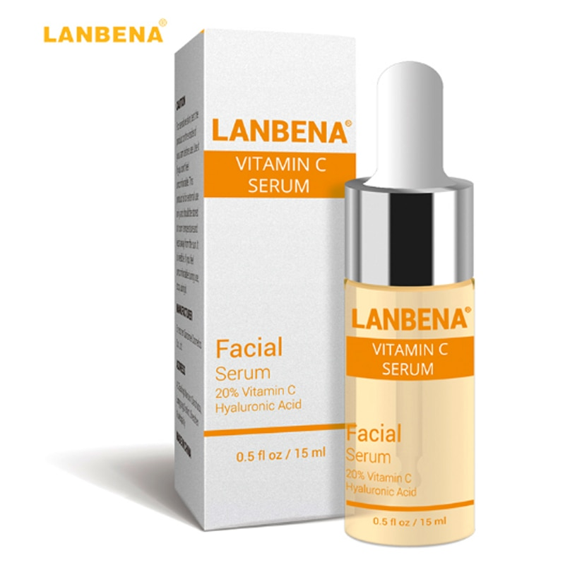 LANBENA ויטמין C הלבנת סרום חומצה היאלורונית פנים קרם חילזון מסיר נמש רבב לדעוך כהה כתמים נגד הזדקנות עור טיפול