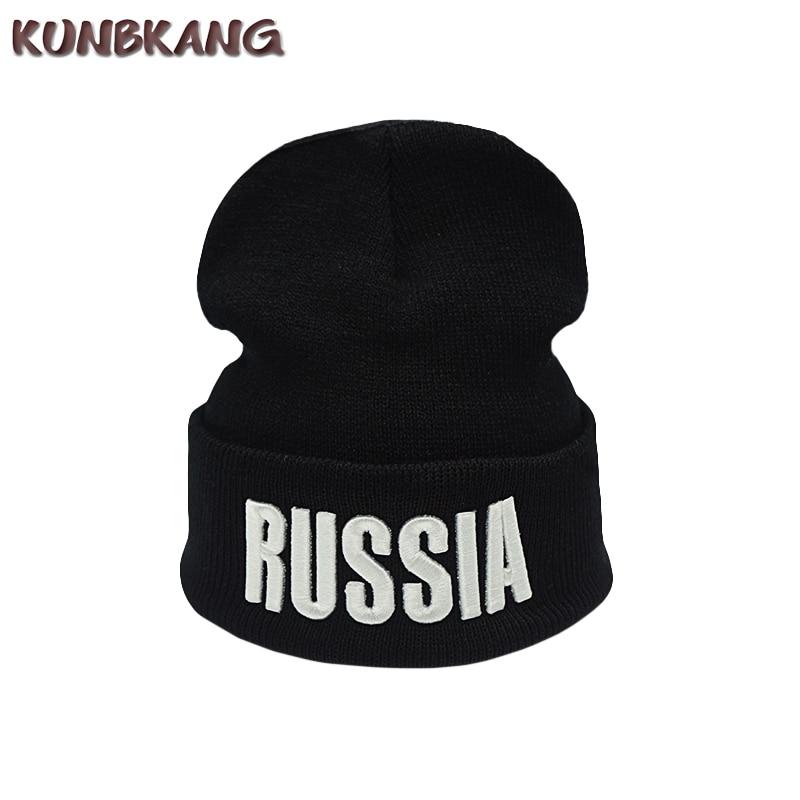 2017 A ESTRENAR Rusia invierno sombrero de punto cálido hombres mujeres letra lana gorro gorra otoño Unisex Casual tejidos gorros sombrero