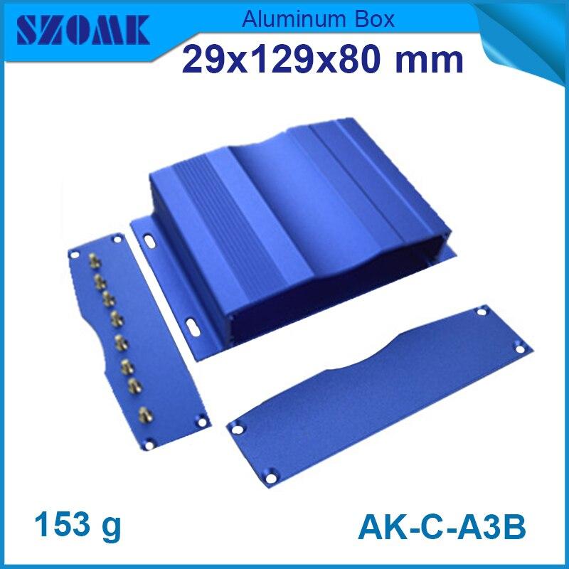 1 pieza envío gratis diy carcasa pequeña de aluminio o metal/carcasa para PCB de tamaño interno 20x100mm