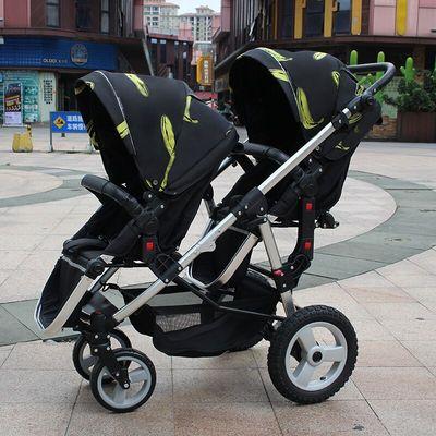 Двойная коляска для близнецов с высоким ландшафтом, складные детские коляски 2 в 1, дорожная система, детская коляска на колесиках