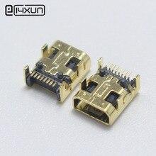 2 stücke Mini USB 8 Pin Schweiß Female jack 8 P Vergoldete Stecker DIY DIP Plug für Digitalkamera