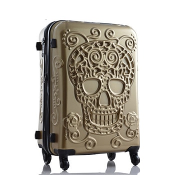 Travel tale personality fashion 20/24/28 Inch Rolling Luggage Spinner brand Travel Suitcase original 3d skull luggage